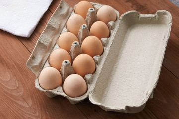 yellow eggs in a tray
