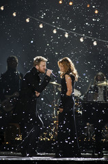 Members of the group Lady Antebellum perform at the 43rd annual Country Music Association Awards in Nashville