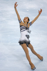 Japan's figure skater Sawada performs her free skating program during Bompard Trophy event at Bercy in Paris