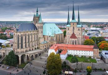 Erfurt mit Dom und St. Severikirche