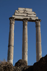 Columns of the Tempel of Castor and Pollux in Rome
