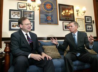 Supreme Court nominee Samuel Alito meets with Sen. Lindsey Graham in Washington