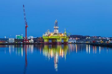 Oil platfroms under maintenance. Bergen, Norway.