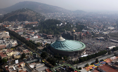 Aerial view of the Basilica of Guadalupe in Mexico City