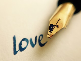 love message with pen