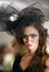 A model presents a creation at the Geova Rodriguez designer Spring 2009 collection during New York Fashion Week