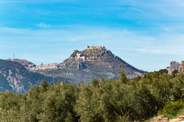 Idyllic view of a mountain village during springtime, captured in Andalusia, Spain