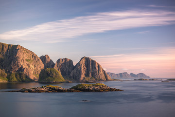 Sea and mountain landscape, Norway