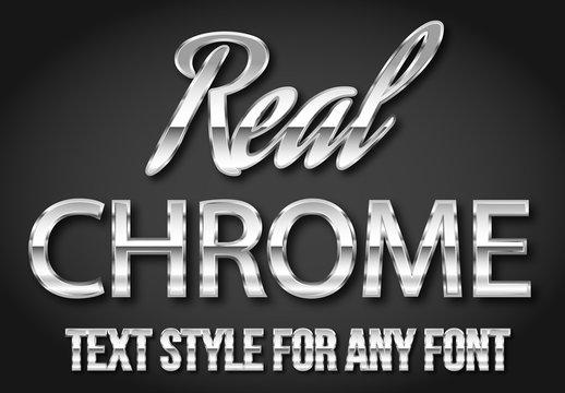 Chrome Text Style Set 1