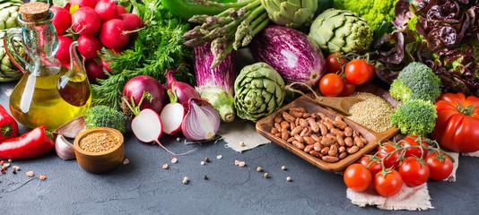 Assortment of fresh organic farmer vegetables