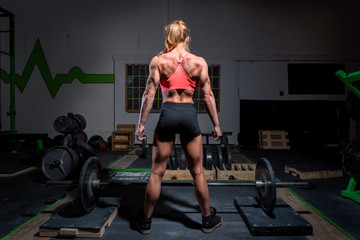 Woman exercising in the gym