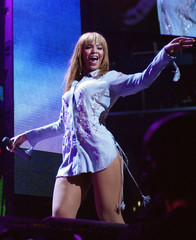 SINGER BEYONCE KNOWLES PERFORMS AT KIIS FM JINGLE BALL IN LOS ANGELES.