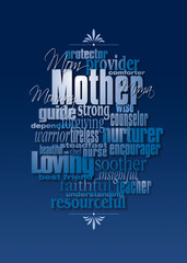 Graphic Mother's Day word montage