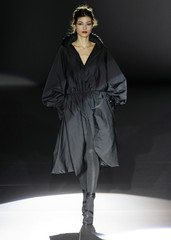 A model presents a creation by Roberto Torretta during the Pasarela Cibeles Autumn/Winter 09-10 fashion week in Madrid