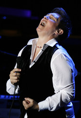 "Musician K.D. Lang performs during the ""An Enduring Vision"" benefit for the Elton John AIDS foundation in New York"