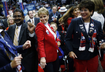 Delegates dance on floor of Republican National Convention in St. Paul