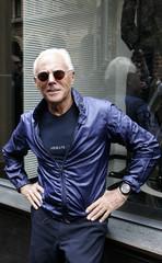 Fashion designer Giorgio Armani makes a public appearance at his Australian store in Sydney