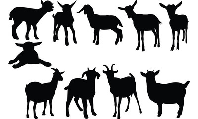 Goat Silhouette vector illustration