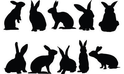 Hare Silhouette vector illustration