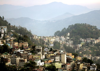 -PHOTO TAKEN 13MAR05- A view of Gangtok the capital of the Indian state of Sikkim, north-eastern Ind..