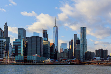 The Manhattan Skyline from , New York.