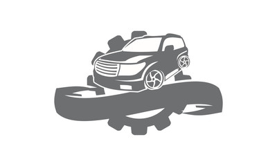 Car gear Ribbon Logo