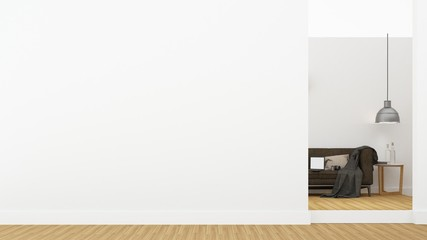 The living japan style minimal in home - 3d rendering
