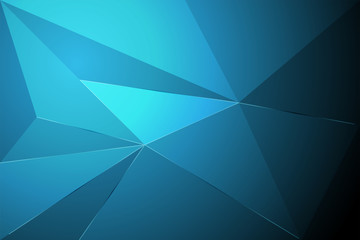 blue abstract poly background