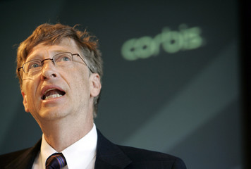 Corbis owner Bill Gates speaks at the Corbis annual meeting in New York