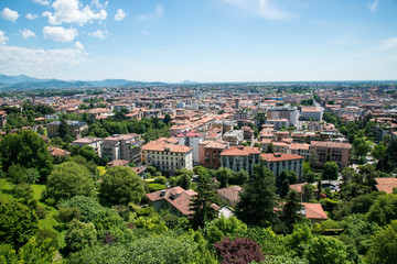 italy bergamo overview vantage point