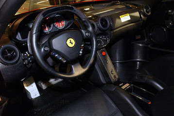 The limited edition Enzo Ferrari is shown at the 2003 New York International Auto Show on April 16, ..