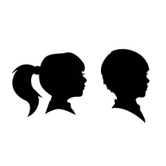 Child side face Silhoutte
