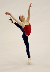 SASHA COHEN OF USA PRACTICES HER SHORT PROGRAM IN SALT LAKE CITY.