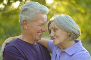Happy beautiful elderly couple