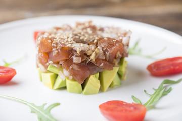 Tartar Salmon with avocado