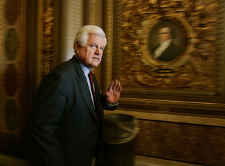 US Senator Ted Kennedy walks to the Senate floor to vote on the confirmation of Alito in Washington