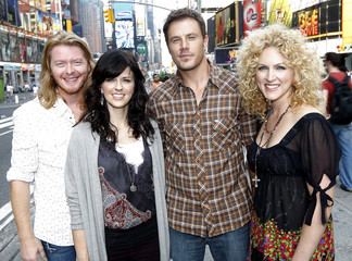 Members of country music band Little Big Town pose for a picture in New York