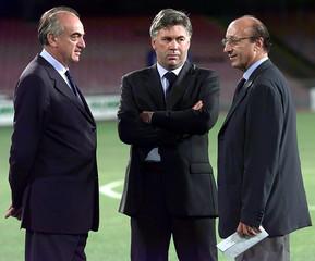 File photo of managing director Giraudo and general manager Moggi of Italian soccer team Juventus