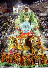 Porto da Pedra samba school opens the second night of the Carnival parade in Rio de Janeiro