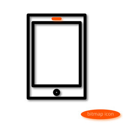 A simple  linear image of an electronic book or tablet, a line icon, a flat style