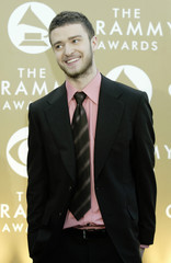 SINGER JUSTIN TIMBERLAKE ARRIVES AT THE 46TH ANNUAL GRAMMY AWARDS.