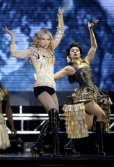 MADONNA PERFORMS AT GREAT WESTERN FORUM IN LOS ANGELES.