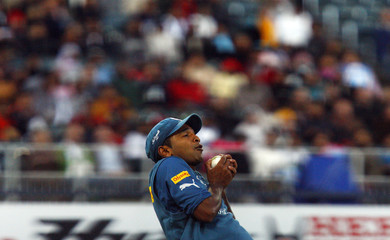 Tirumalsetti Suman of the Deccan Chargers makes a catch to dismiss Brendon McCullum of the Kolkata Knight Riders during the 2009 Indian Premier League (IPL) T20 cricket tournament in Johannesburg