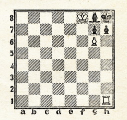 Chess problem by Paul Morphy,  mate in two