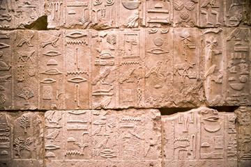 Egyptian hieroglyph on the wall