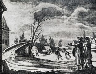 Skating, 18th century