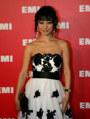 Chinese actress Bai arrives at the EMI Post Grammy Party in Los Angeles