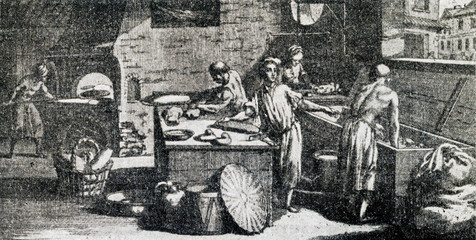Bakery, 18th century (from Diderot's Encyclopédie)