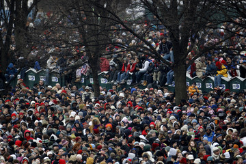 Crowds gather on the Mall for the 'We Are One'  Inaugural Celebration at the Lincoln Memorial in Washington