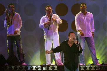 UB40's Ali Campbell performs during the Live Earth concert at The Dome in Johannesburg